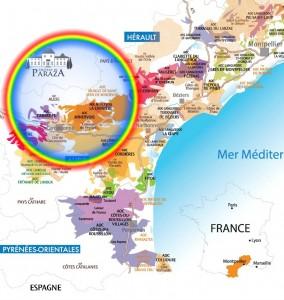 Carte sur de la France