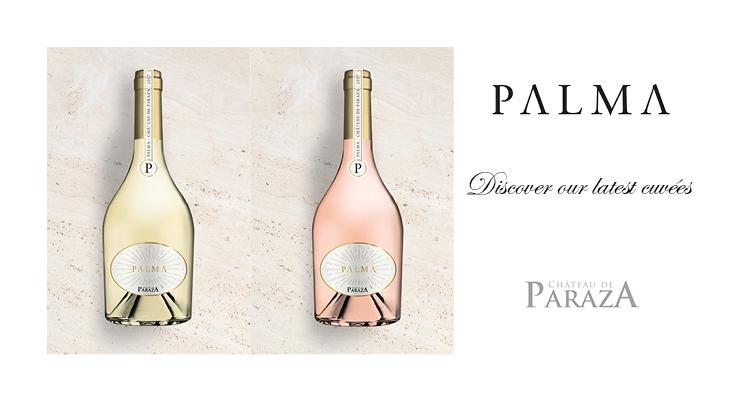 PALMA blanc et rosé Vin du Chateau de Paraza great wines from Minervois Languedoc