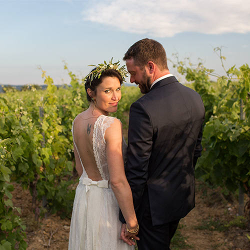 Wedding in a winery in France