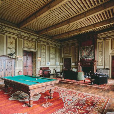 la grand salon du château de Paraza