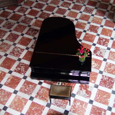 Piano du château de Paraza