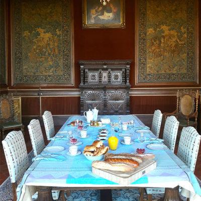 petit déjeuner chateau de Paraza